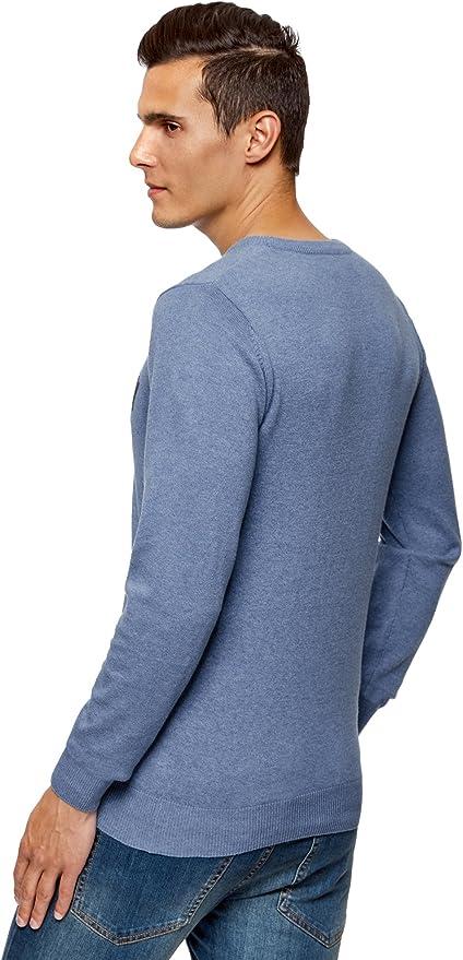 oodji Ultra Hombre Jersey con Estampado de Felpa