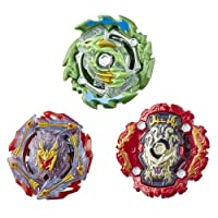 BEYBLADE Burst Rise Hypersphere Battle Heroes 3-Pack -- Ace Dragon D5, Rudr R5, Viper Hydrax H5 Battling Game Tops, Toys Ages 8 and Up