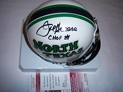 af17638fe28 Image Unavailable. Image not available for. Color: Autographed Joe Greene  Mini Helmet - North Texas coa - JSA ...