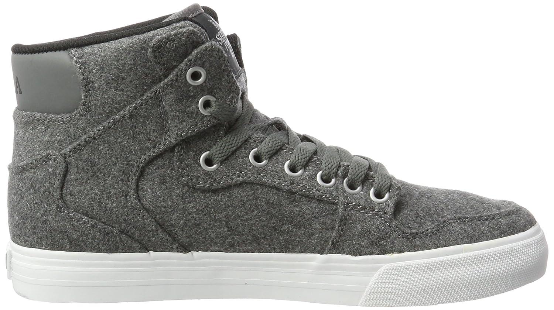Supra Vaider LC Sneaker B06XXW7P7H 8.5 M US|Charcoal Wool/White