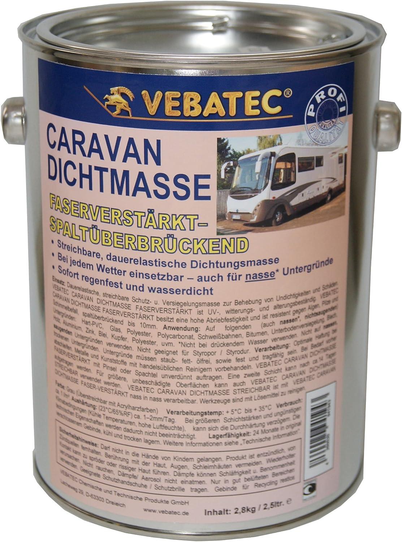 Vebatec Caravan Dichtmasse Faserverstärkt 2 8 Kg 21 42 1kg Auto