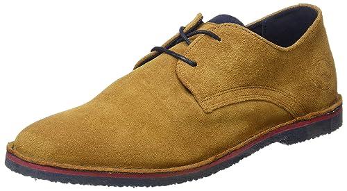 El Ganso Botín Bajo Guerrero Ante Cuero Zapatos de Cordones para Hombre