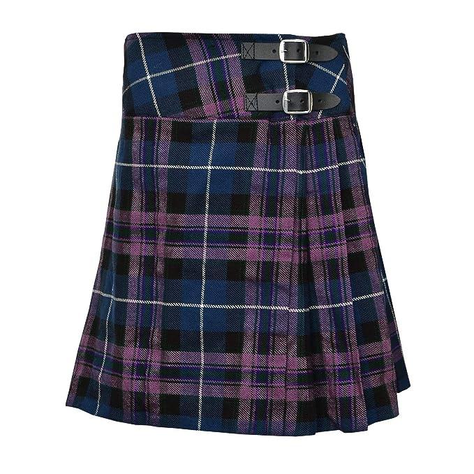 Amazoncom Ladies Knee Length Kilt Skirt 20 Length Tartan