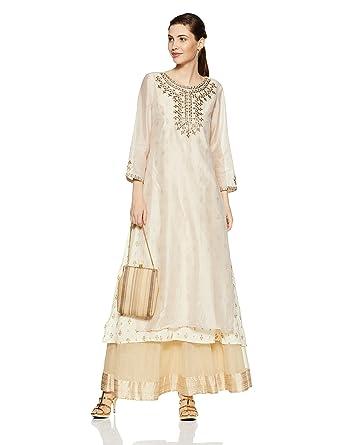 8b0d483c2aadb global desi Women's A-Line Kurta: Amazon.in: Clothing & Accessories
