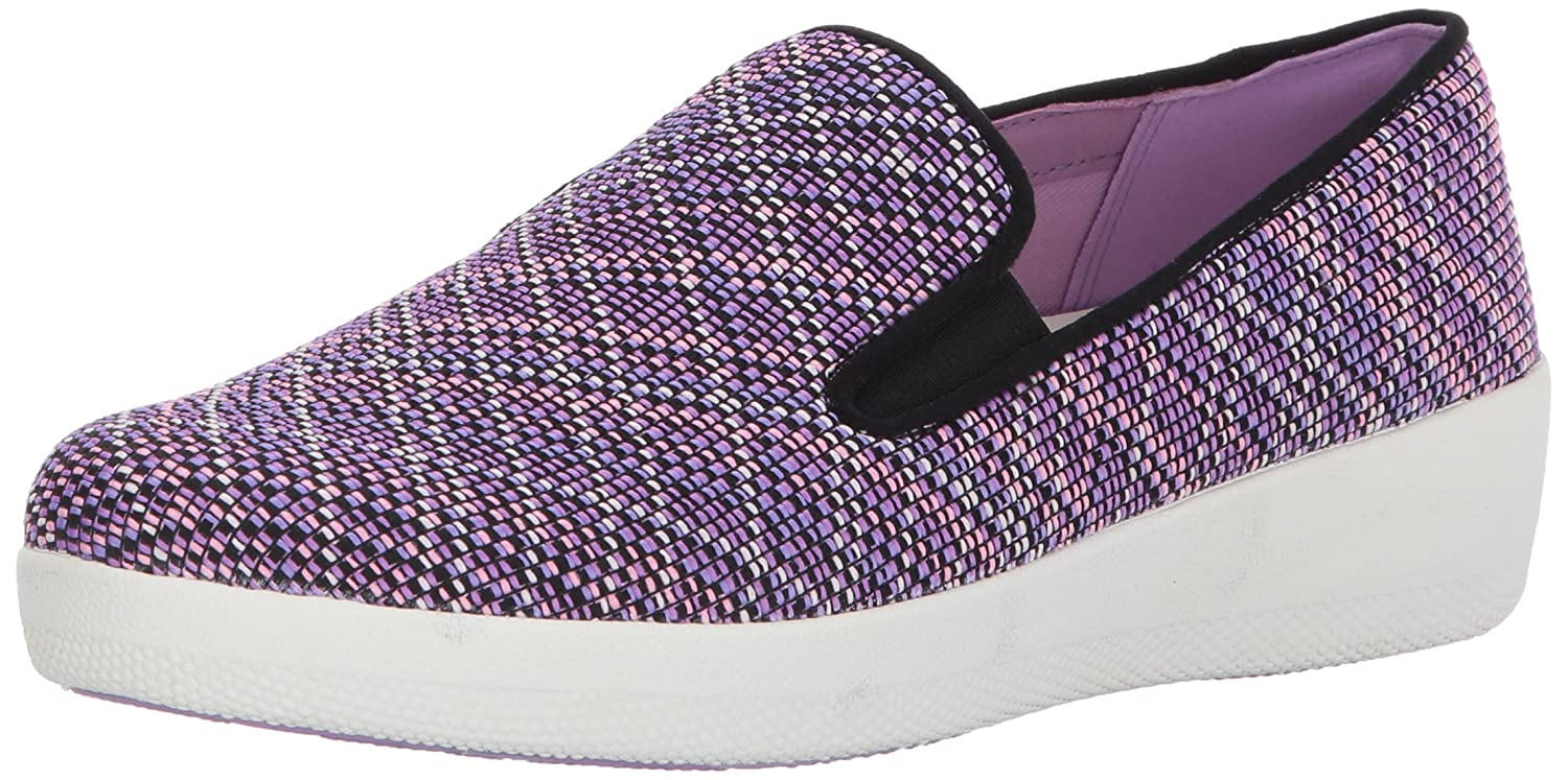 FitFlop Women's Superskate Twill Knit Flat B06XY7MSRZ 8.5 B(M) US|Violet Mix