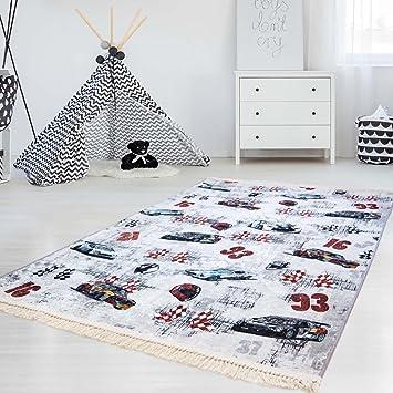 Myshop24h Kinder Teppich Waschbar Waschmaschine Teppich Druckteppich