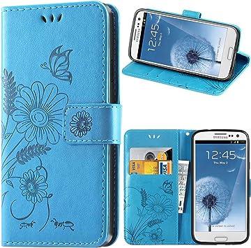 kazineer Coque Galaxy S3, Housse en Cuir Samsung S3 / S3 Neo Etui Portefeuille Coque pour Samsung Galaxy S3 Case - Bleu Turquoise