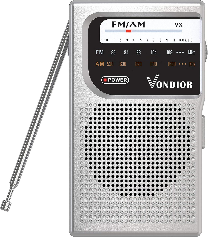 FORNORM Radio portatile Mini Pocket FM Radio AM 9,9 /× 5,5 /× 2 cm