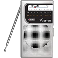 AM FM Battery Operated Portable Pocket Radio - Best Reception and Longest Lasting. AM FM Compact Transistor Radios…
