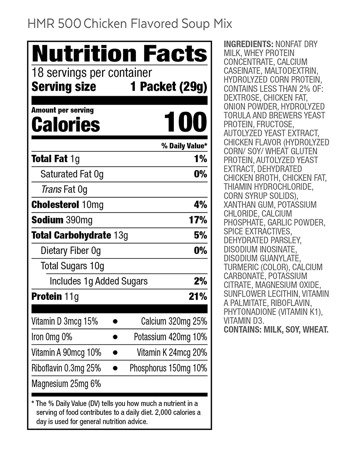 Amazon Com Hmr 500 Chicken Soup Meal Replacement 100 Calories Box Of 18 Servings Hmr Products Grocery Gourmet Food