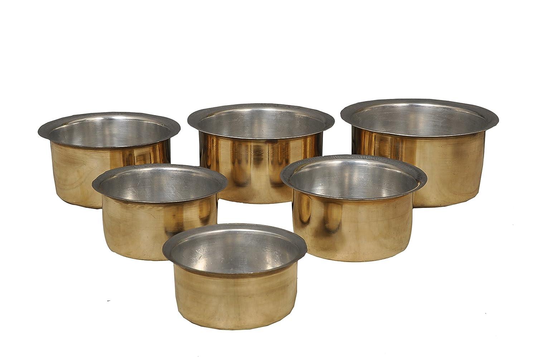Buy Nutristar Tope Brass Kalai Set (1 to 6 L) -6 Piece
