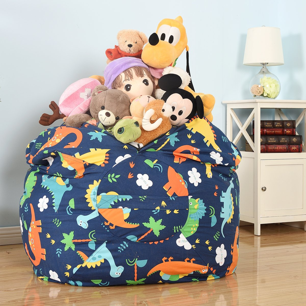 extra large stuffed animals bean bag chair cover 100 cotton canvas kids toy 712217842426 ebay. Black Bedroom Furniture Sets. Home Design Ideas