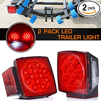 LH RH Boat Trailer LED Light Kit Stop Tail Turn LED Trailer Lights