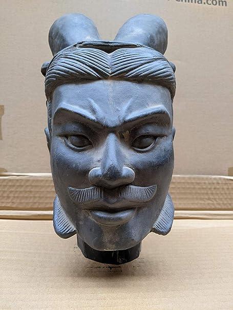 Zen Terrakotta Soldaten Krieger,Tonsoldaten General 10x15x48 cm