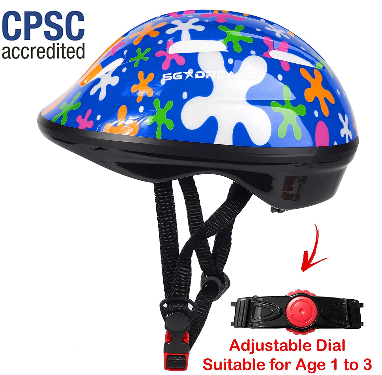 驚きの価格が実現! SG Dreamz幼児用ヘルメット - B07GDFN8QP - 幼児から幼児用、1歳から3歳まで調整可能 - - 丈夫な子供用自転車ヘルメット、スポーティなデザインが楽しめる男の子と女の子は大好きです - 安全のために認定されたCSPC B07GDFN8QP, ジュエル アイマス:571d728c --- arianechie.dominiotemporario.com