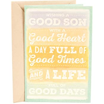 Amazon American Greetings Dear Son Birthday Card For Son With