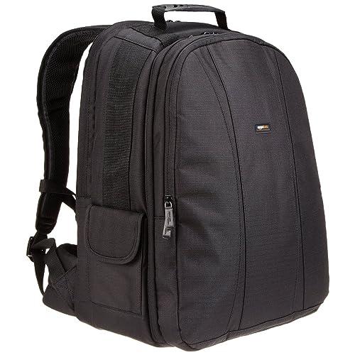 AmazonBasics DSLR and Laptop Backpack with Orange Interior