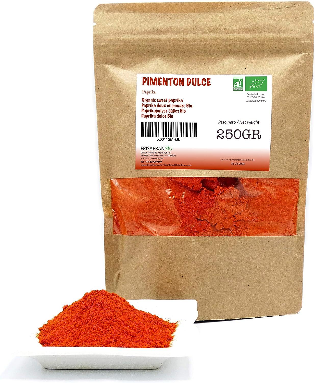FRISAFRAN - Pimentón dulce Ecologico (250Gr): Amazon.es: Alimentación y bebidas