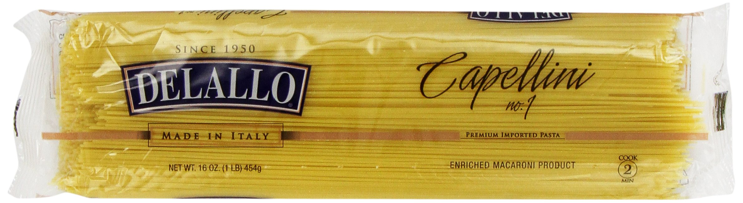 Delallo Capellini Pasta, 16-Ounce Packages (Pack of 8)