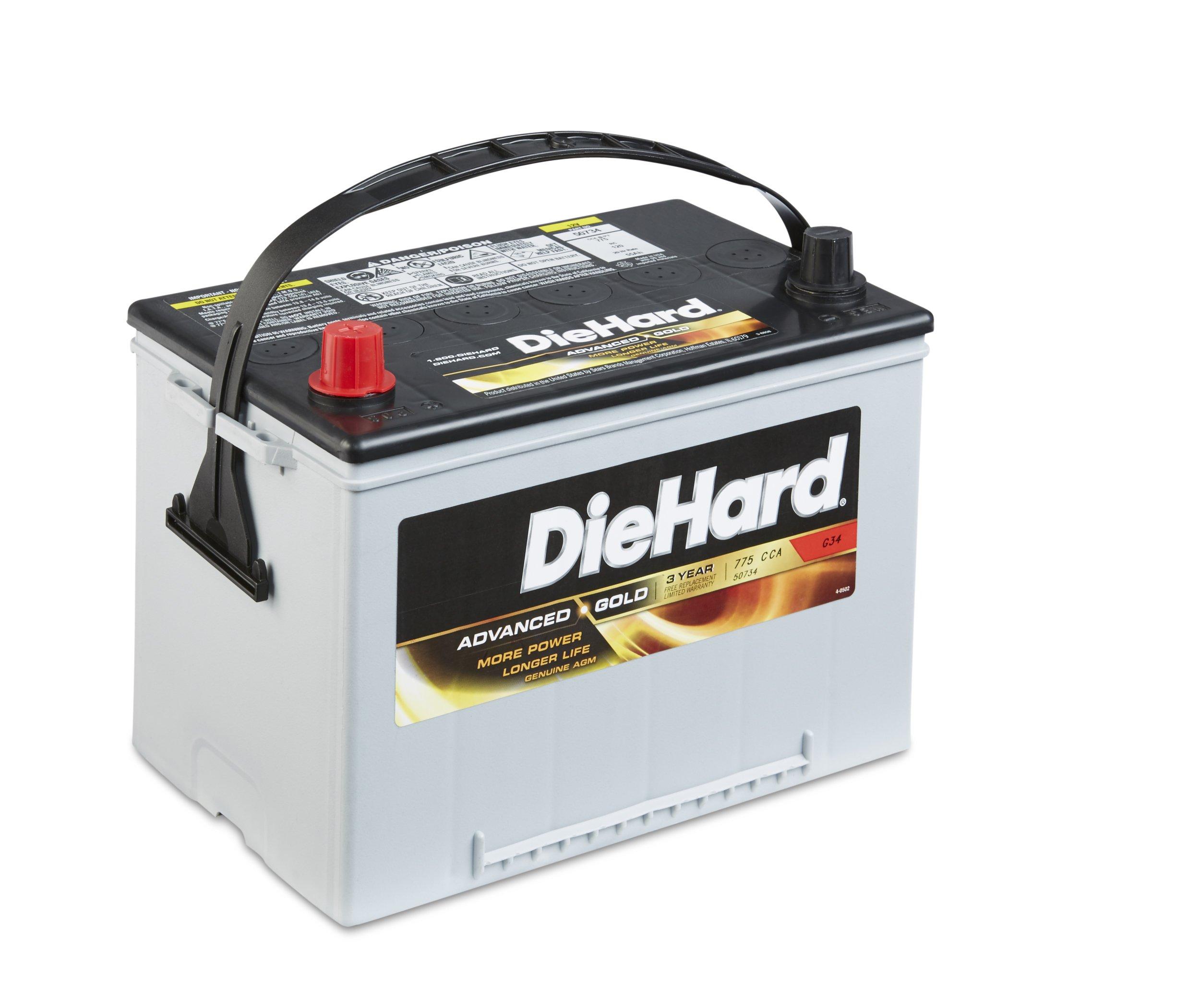 DieHard 38232 Advanced Gold AGM Battery (GP 34)