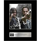 iconic pics Norman Reedus, Daryl Dixon and Andrew Lincoln, Rick Grimes Signed Mounted Photo Display Walking Dead