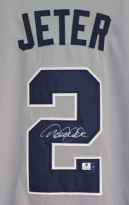 save off e45f3 4ad0b Derek Jeter New York Yankees Signed Autographed Gray #2 ...