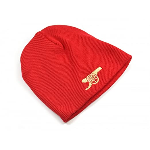 b33d01bbffd1b Arsenal FC Official Soccer Core Cannon Emblem Beanie Hat (One Size) (Red
