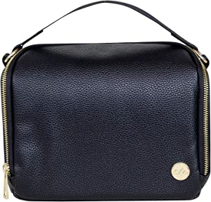 CleverMade Breastmilk Cooler Bag - Insulated Baby Bottle Tote for Breast Milk, Formula, Food, and Snacks with Top Handle for Easy Toting - Perfect Travel Carrier for Nursing Mothers - Black
