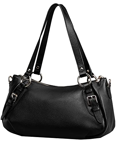 983eb11e04e3 Heshe Vintage Leather Handbags Shoulder Bag Top Handle Purse Cross Body  Fashion Bags Satchel for Women and Lady