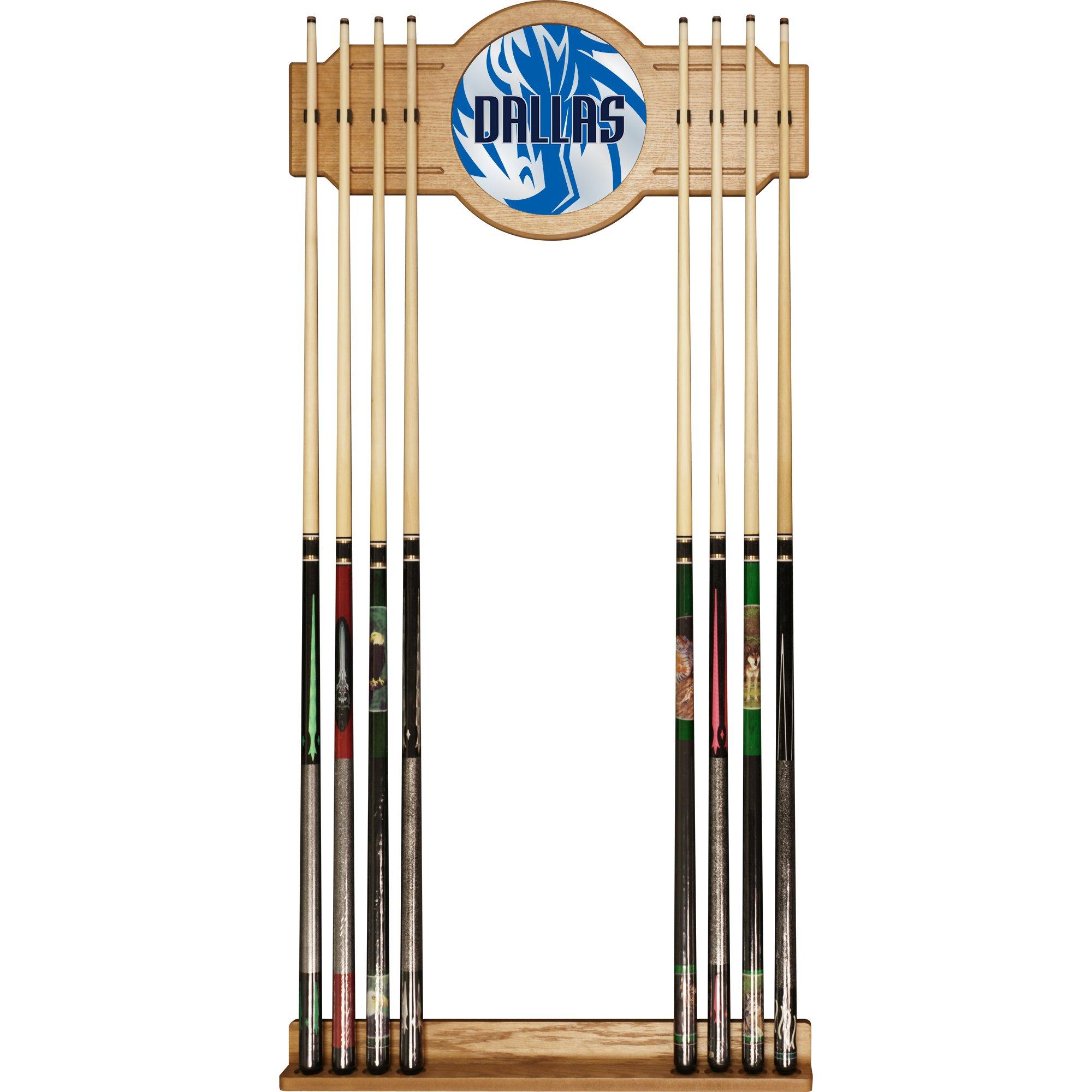 Trademark Gameroom NBA6000-DM2 NBA Cue Rack with Mirror - Fade - Dallas Mavericks by Trademark Global