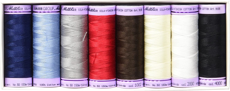 Metrosene Set8pc Mettler Silk Finish Cotton Gift Set 8pc