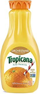 product image for Tropicana Pure Premium Orange Juice, Grovestand, Lots of Pulp, 52 oz