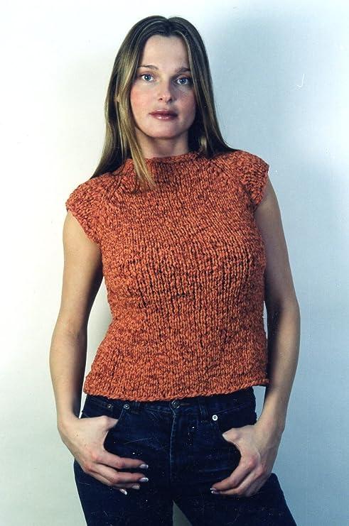 """40/"""" Raglan Cap-Sleeves Top Women 32/"""" Karabella Yarns Knitting Pattern KK142"""