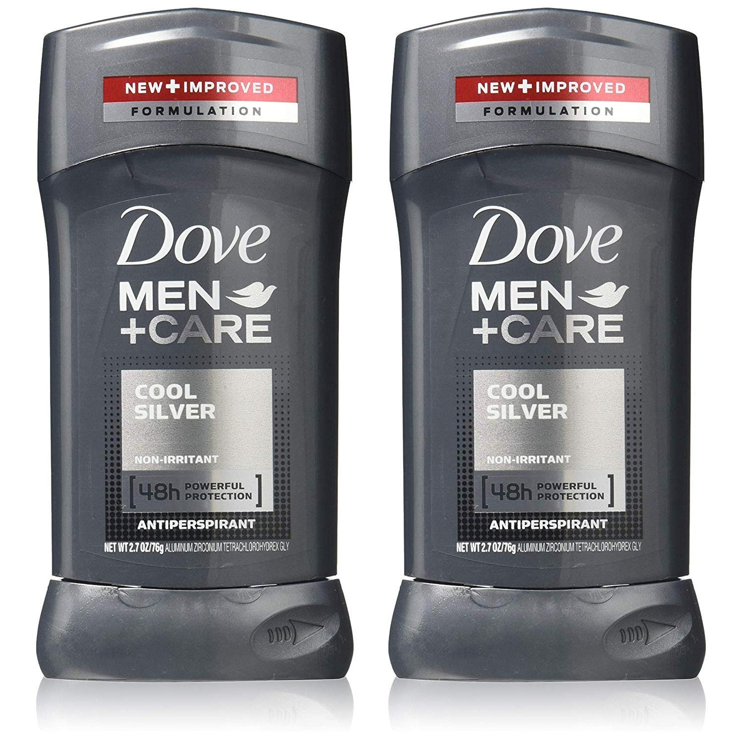 Dove Men + Care Antiperspirant, Cool Silver 2.70 oz (Pack of 2)