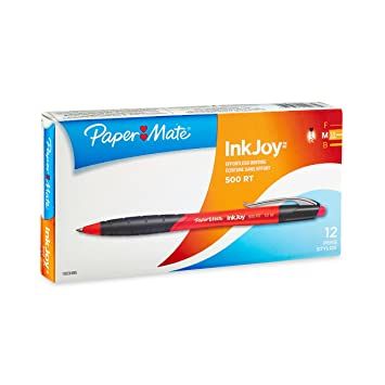 Paper Mate InkJoy 500 Ballpoint Pen, Retractable, Red, Medium (1.0 mm)
