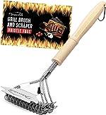 MaxxGrill Grill Brush and Scraper - Bristle Free - Safe BBQ