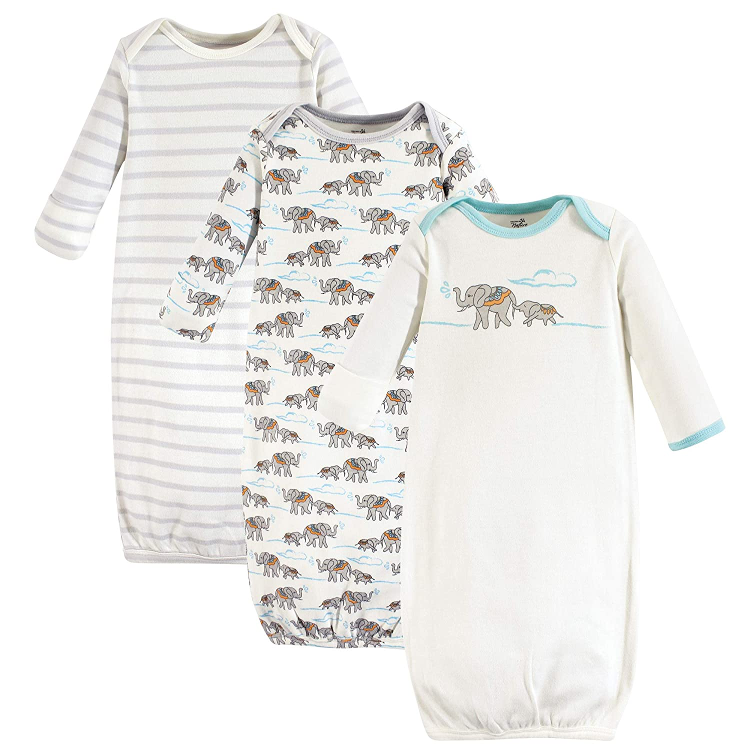 Touched by Nature Baby Organic Cotton Gown Elephant 0-6 Months