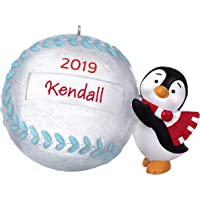 Hallmark Keepsake Christmas 2019 Year Dated Baseball Star Penguin DIY Personalized Ornament,