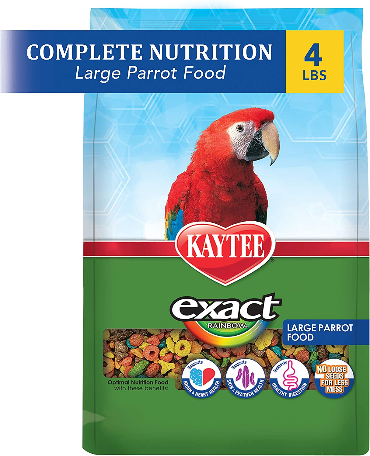 Kaytee Exact Rainbow Chunky Premium Daily Nutrition for Large Parrots