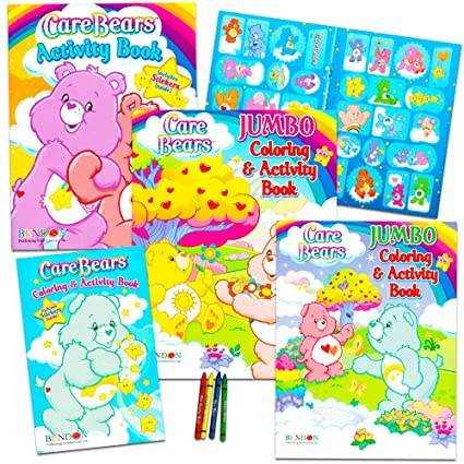 Buy Care Bears Coloring Book Super Set with Stickers (3 Jumbo Books ...
