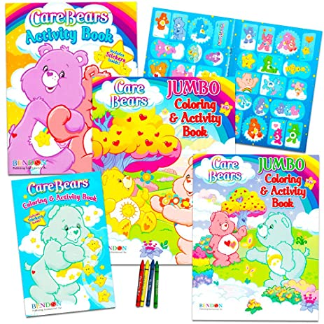 Amazon Com Care Bears Coloring Book Super Set With Stickers 3