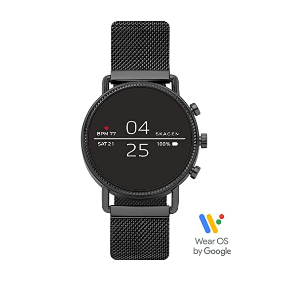Smartphone Skagen With Heart Falster Touchscreen Notifications Stainless Smartwatch Steel RateGpsNfcAnd Connected 2 QsrChdt