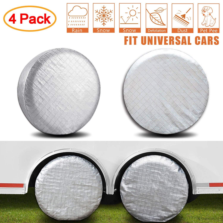 Amfor Set of 4 Tire Covers,Waterproof Aluminum Film Tire Sun Protectors, Fits 36' to 39' Tire Diameters, Weatherproof Tire Protectors Fits 36 to 39 Tire Diameters 4332980194