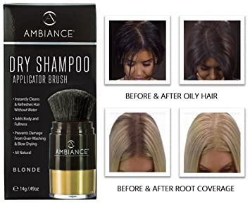 Ambiance Dry Shampoo (Blonde)–Refreshes, Conceals Roots & Volumizes.  Absorbs Oil to Clean Hair, Boosting Body & Shine. Covers Roots Between  Colorings. ...