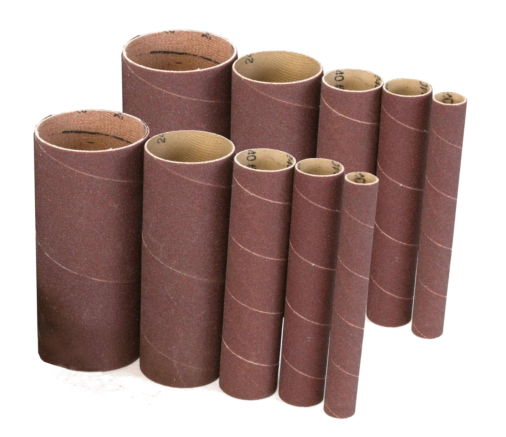 WEN 6535SP240 240-Grit Oscillating Spindle Sandpaper Sanding Sleeves with 5-5/8-Inch Height, 10 Pack
