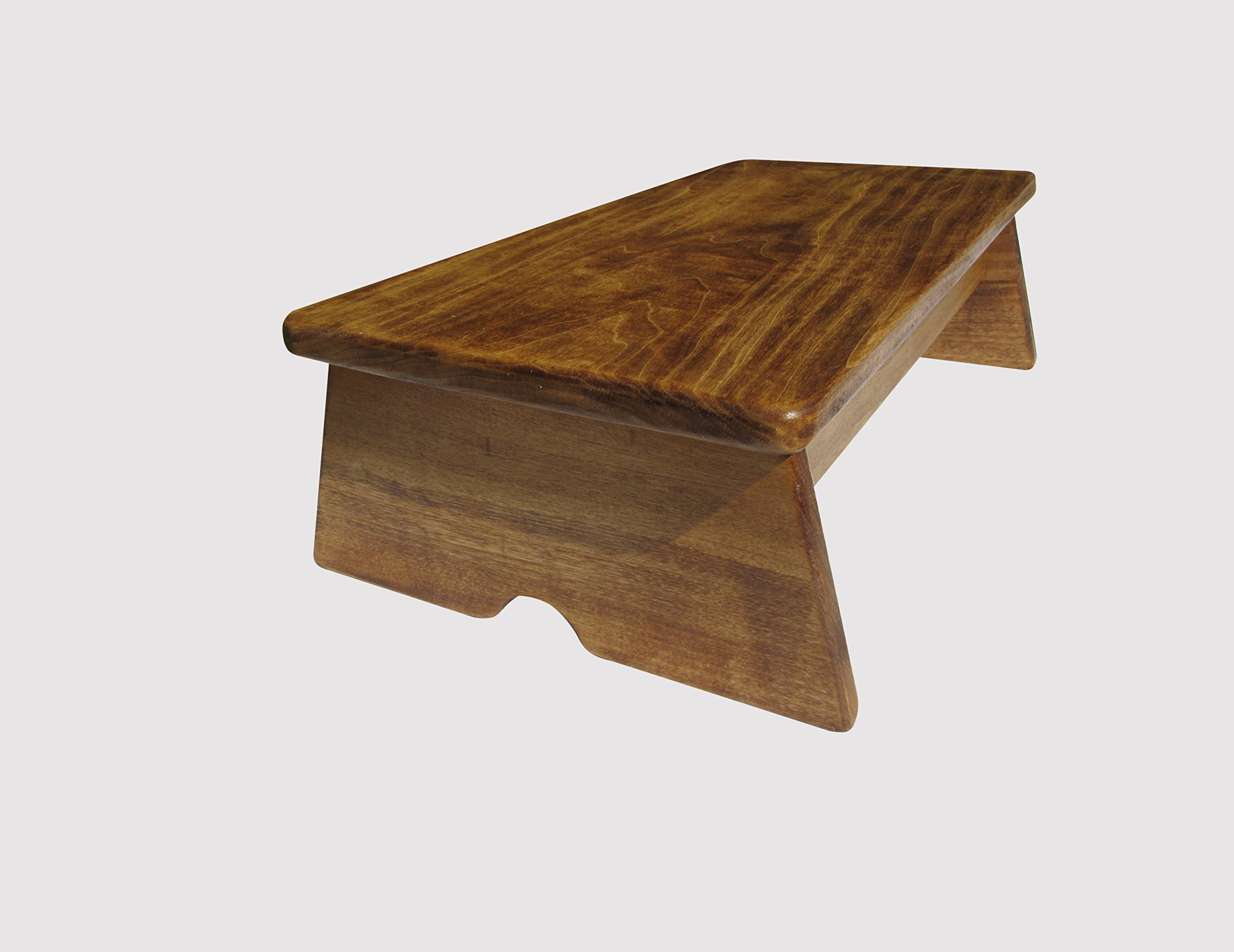 Mini Stability Bedside Foot Stool: 6'' Tall (Made in the USA) (Maple Stain)