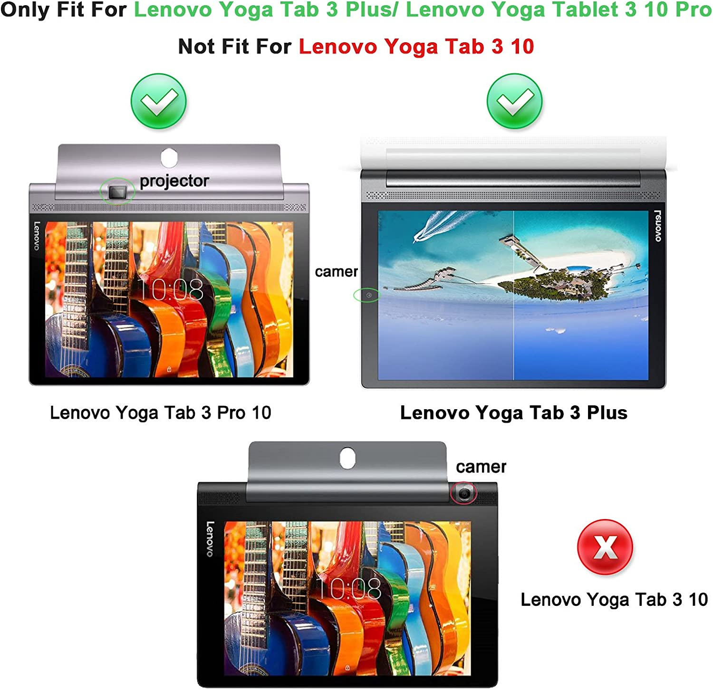 INFILAND Yoga Tab 3 Pro/Yoga Tab 3 Plus 10 Funda Case, Folio PU ...