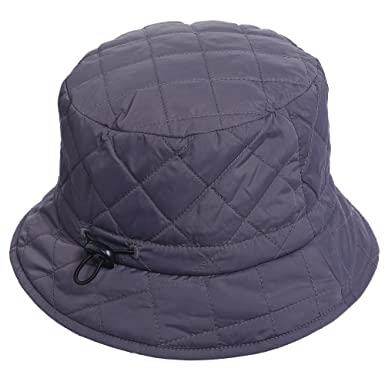 SCALA Quilted RAIN HAT (Grey) at Amazon Women s Clothing store  5e2e4999e88