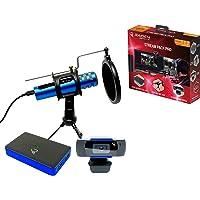 Raiden - Paquete de accesorios para jugadores de streaming y youtubers, caja de captura de vídeo Full HD, micrófono…