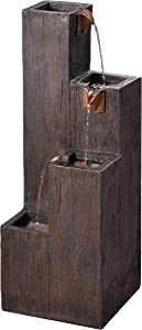 Kenroy Home 51017WDG Lincoln Fountains, 34 Inch Height, 12.25 Inch Width, 12.25 Inch Ext, Wood Grain Finish